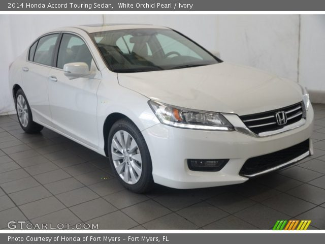 white orchid pearl 2014 honda accord touring sedan ivory interior vehicle. Black Bedroom Furniture Sets. Home Design Ideas
