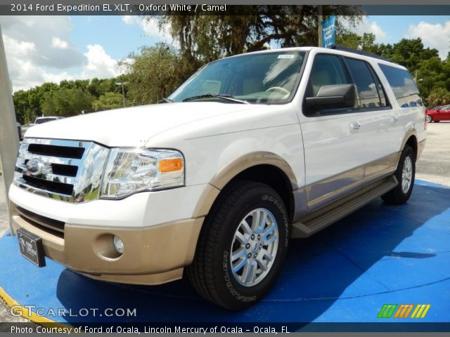 oxford white 2014 ford expedition el xlt camel. Black Bedroom Furniture Sets. Home Design Ideas