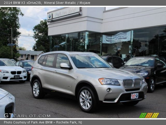 Mineral Silver Metallic 2014 Bmw X3 Xdrive28i Mojave Interior Vehicle
