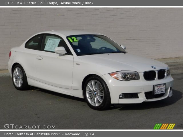2012 BMW 1 Series 128i Coupe in Alpine White