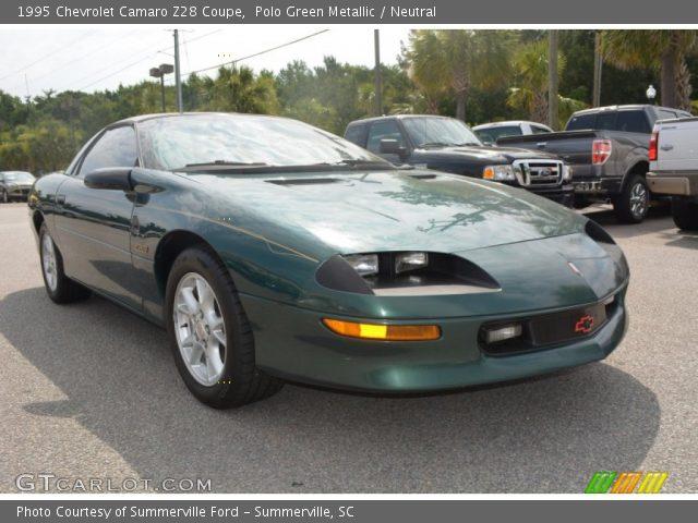 polo green metallic 1995 chevrolet camaro z28 coupe. Black Bedroom Furniture Sets. Home Design Ideas
