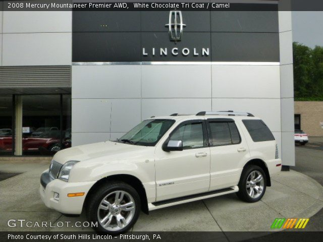 2008 Mercury Mountaineer Premier AWD in White Chocolate Tri Coat