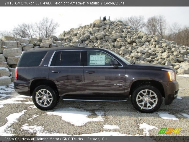 midnight amethyst metallic 2015 gmc yukon slt 4wd cocoa dune interior. Black Bedroom Furniture Sets. Home Design Ideas