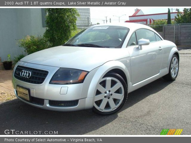 lake silver metallic 2003 audi tt 1 8t quattro coupe aviator gray interior. Black Bedroom Furniture Sets. Home Design Ideas