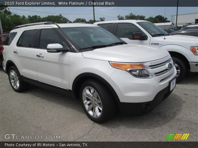 2015 ford explorer limited in white platinum click to see large photo. Black Bedroom Furniture Sets. Home Design Ideas