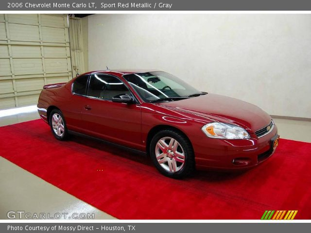 sport red metallic 2006 chevrolet monte carlo lt gray. Black Bedroom Furniture Sets. Home Design Ideas