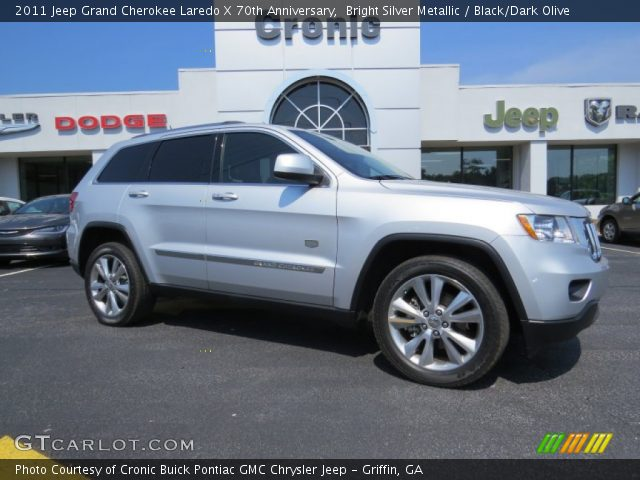 2011 Jeep Grand Cherokee Laredo X 70th Anniversary in Bright Silver Metallic