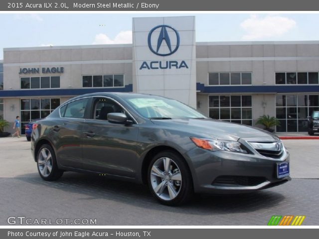modern steel metallic 2015 acura ilx 2 0l ebony interior vehicle archive. Black Bedroom Furniture Sets. Home Design Ideas