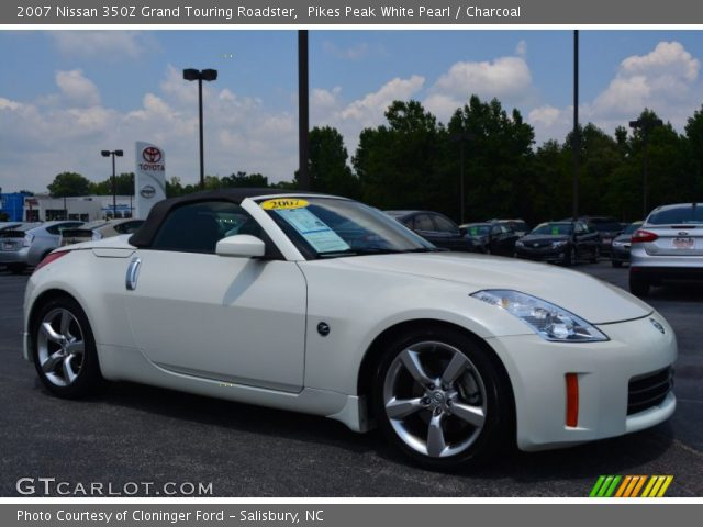 pikes peak white pearl 2007 nissan 350z grand touring roadster charcoal interior gtcarlot. Black Bedroom Furniture Sets. Home Design Ideas