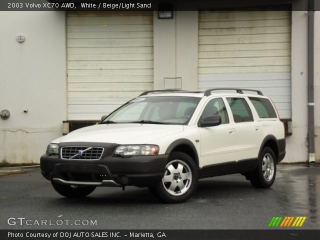 white 2003 volvo xc70 awd beige light sand interior. Black Bedroom Furniture Sets. Home Design Ideas