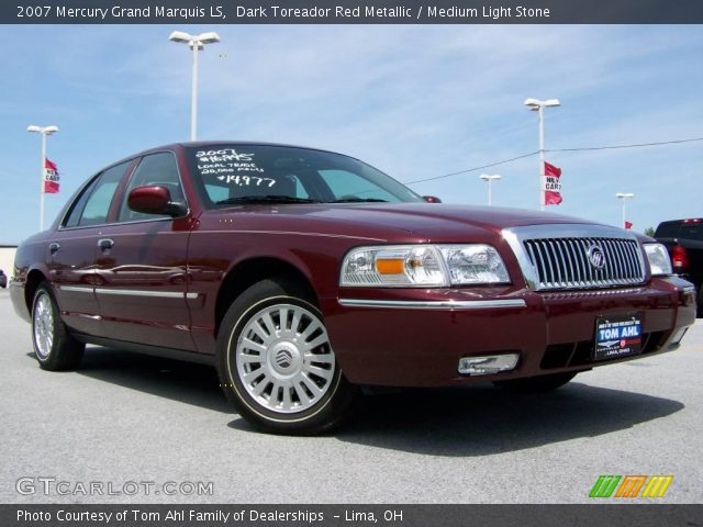dark toreador red metallic 2007 mercury grand marquis ls. Black Bedroom Furniture Sets. Home Design Ideas