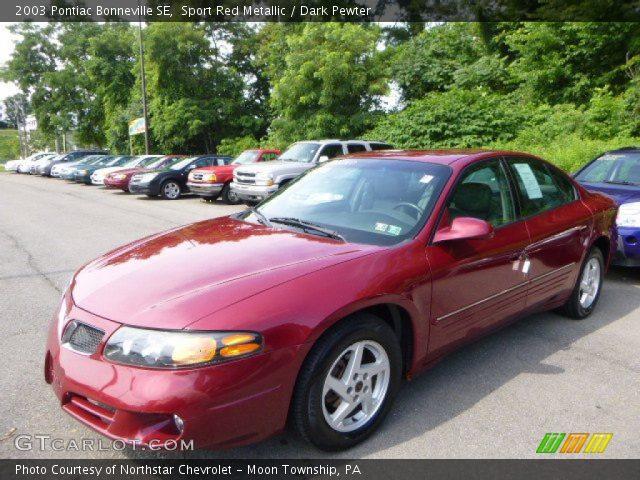 2003 Pontiac Bonneville SE in Sport Red Metallic