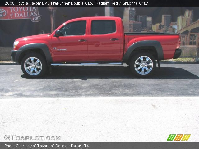 radiant red 2008 toyota tacoma v6 prerunner double cab graphite gray interior. Black Bedroom Furniture Sets. Home Design Ideas