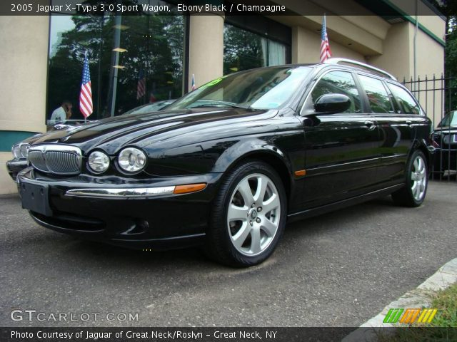 ebony black 2005 jaguar x type 3 0 sport wagon champagne interior vehicle. Black Bedroom Furniture Sets. Home Design Ideas