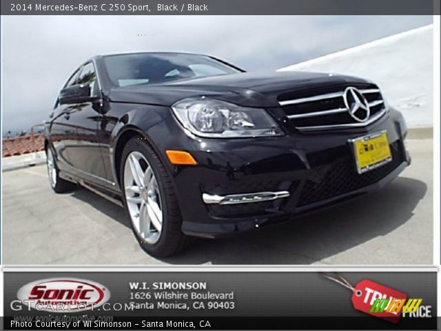 2014 Mercedes-Benz C 250 Sport in Black