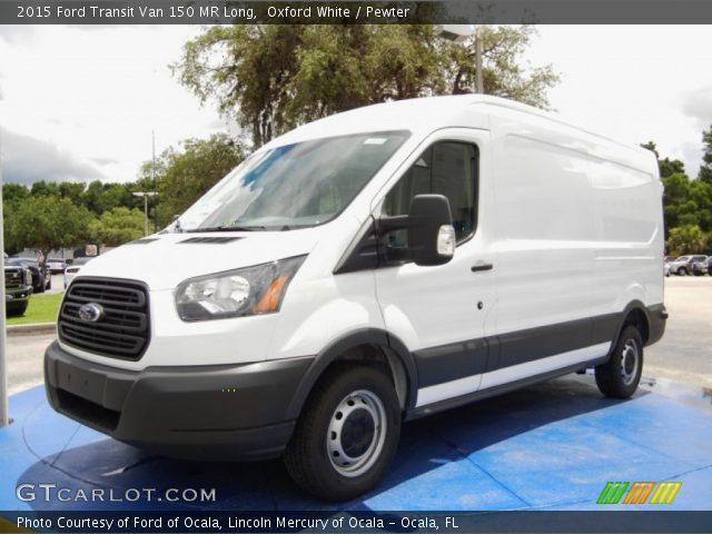 oxford white 2015 ford transit van 150 mr long pewter interior vehicle. Black Bedroom Furniture Sets. Home Design Ideas