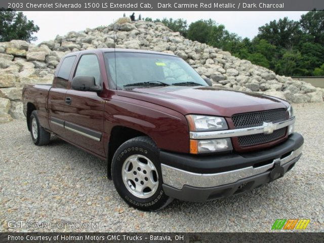 2003 Chevrolet Silverado 1500 LS Extended Cab in Dark Carmine Red Metallic