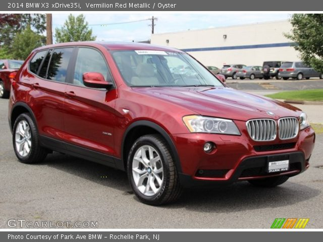 Vermilion Red Metallic 2014 Bmw X3 Xdrive35i Oyster Interior Vehicle