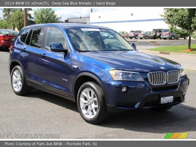 Deep Sea Blue Metallic 2014 Bmw X3 Xdrive35i Sand Beige Interior Vehicle