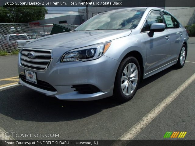 ice silver metallic 2015 subaru legacy premium slate black interior. Black Bedroom Furniture Sets. Home Design Ideas