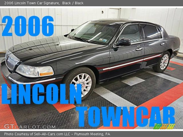 2006 Lincoln Town Car Signature in Black