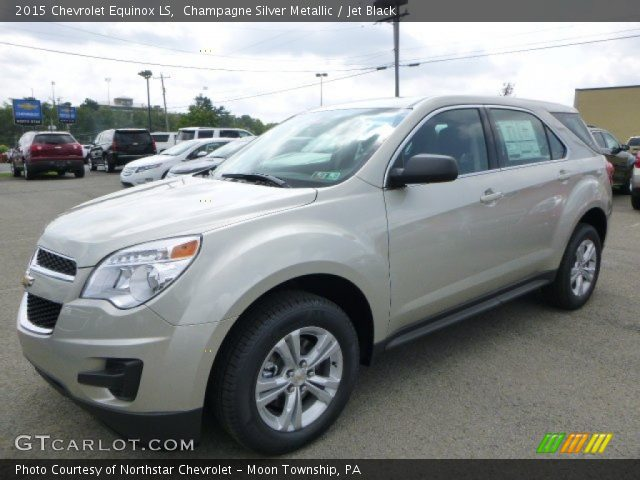 champagne silver metallic 2015 chevrolet equinox ls. Black Bedroom Furniture Sets. Home Design Ideas