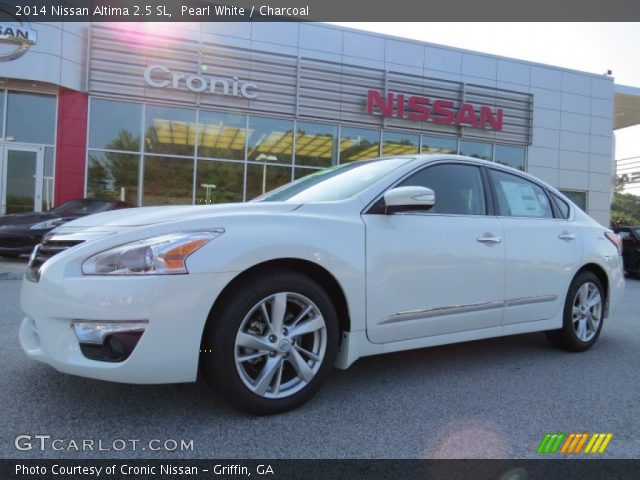 pearl white 2014 nissan altima 2 5 sl charcoal interior vehicle archive. Black Bedroom Furniture Sets. Home Design Ideas