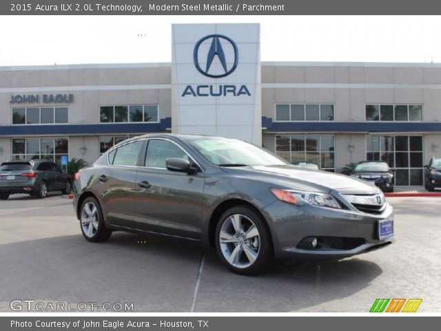 modern steel metallic 2015 acura ilx 2 0l technology parchment interior. Black Bedroom Furniture Sets. Home Design Ideas