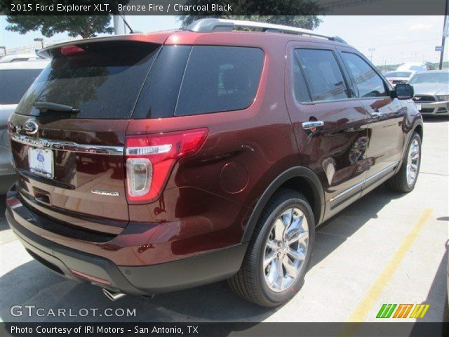 bronze fire 2015 ford explorer xlt charcoal black interior