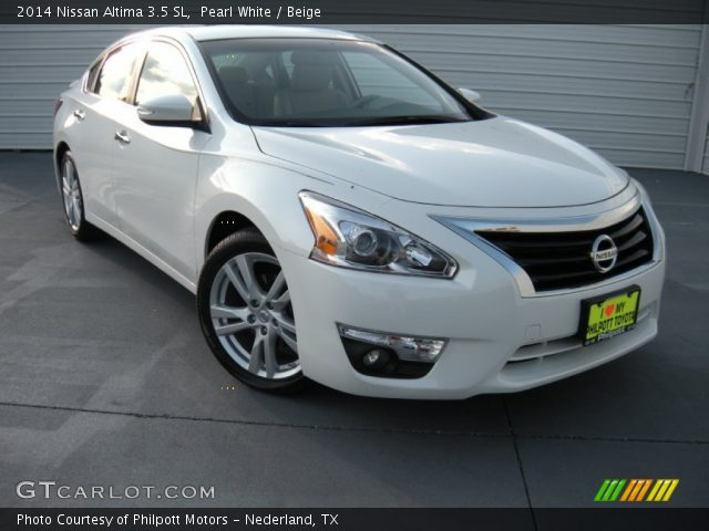 pearl white 2014 nissan altima 3 5 sl beige interior vehicle archive 96290314. Black Bedroom Furniture Sets. Home Design Ideas