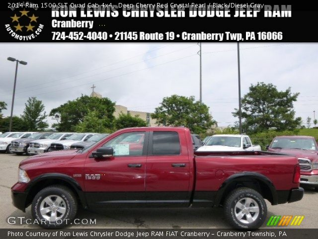 2014 Ram 1500 SLT Quad Cab 4x4 in Deep Cherry Red Crystal Pearl