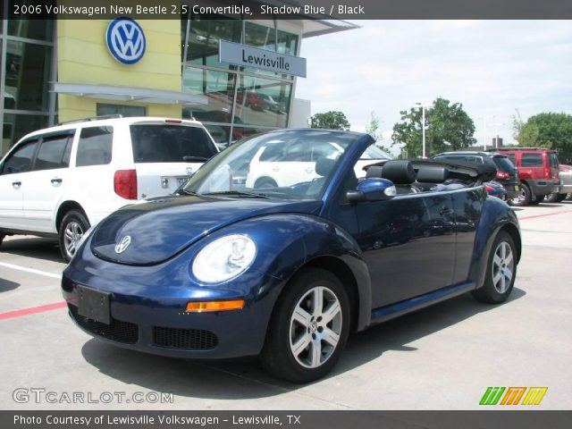 shadow blue 2006 volkswagen new beetle 2 5 convertible black interior. Black Bedroom Furniture Sets. Home Design Ideas