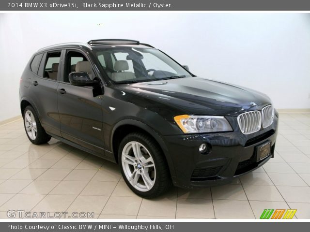 Black Sapphire Metallic 2014 Bmw X3 Xdrive35i Oyster Interior Vehicle