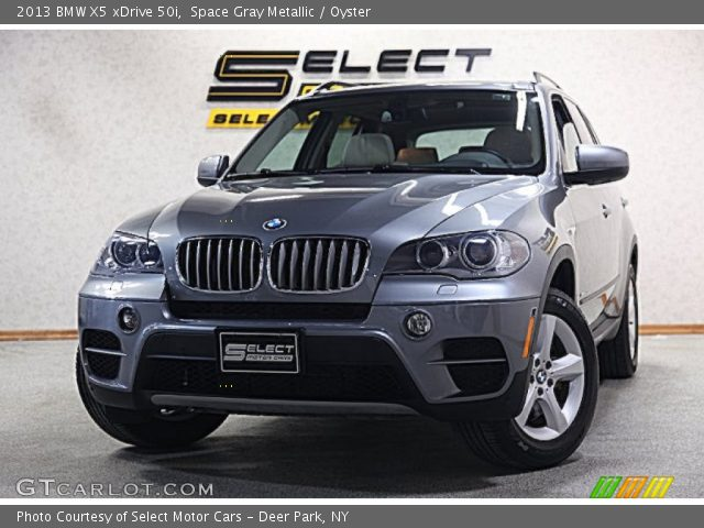 space gray metallic 2013 bmw x5 xdrive 50i oyster interior vehicle archive. Black Bedroom Furniture Sets. Home Design Ideas