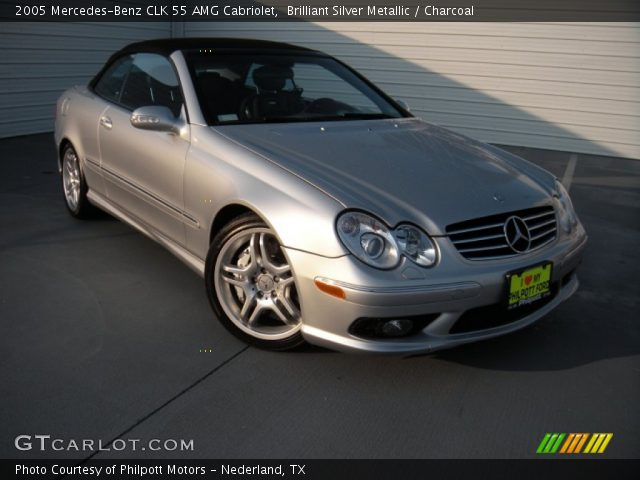 2005 Mercedes-Benz CLK 55 AMG Cabriolet in Brilliant Silver Metallic