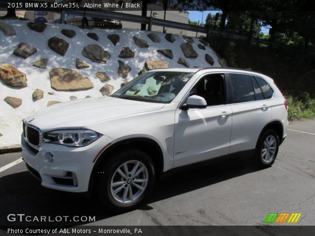 alpine white 2015 bmw x5 xdrive35i black interior vehicle archive 96759147. Black Bedroom Furniture Sets. Home Design Ideas