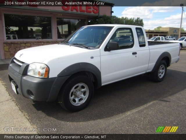 avalanche white 2004 nissan frontier xe king cab gray interior vehicle. Black Bedroom Furniture Sets. Home Design Ideas