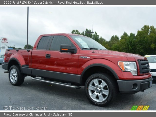 2009 Ford F150 FX4 SuperCab 4x4 in Royal Red Metallic