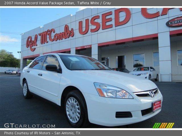 taffeta white 2007 honda accord value package sedan gray interior vehicle. Black Bedroom Furniture Sets. Home Design Ideas