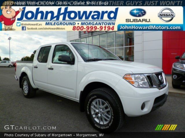 glacier white 2015 nissan frontier sv crew cab 4x4. Black Bedroom Furniture Sets. Home Design Ideas