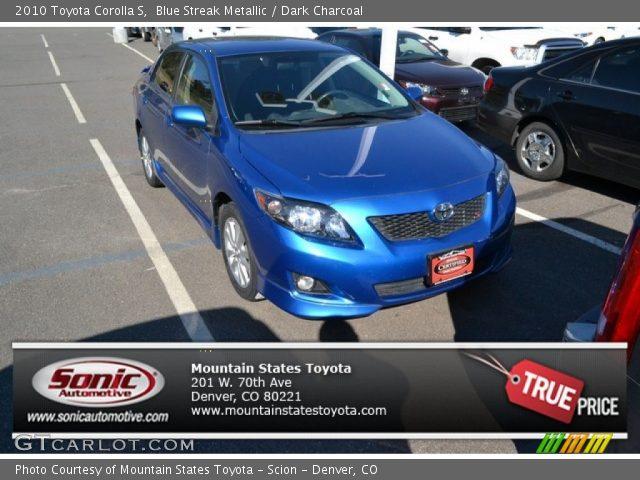 2010 Toyota Corolla S in Blue Streak Metallic