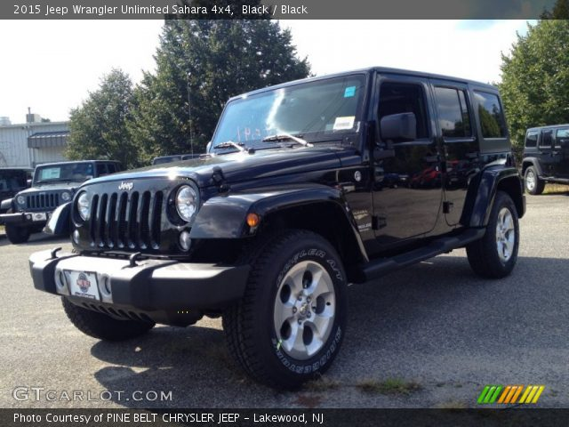 Black 2015 Jeep Wrangler Unlimited Sahara 4x4 Black Interior Vehicle