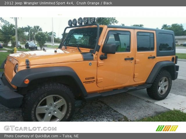 Crush orange 2012 jeep wrangler unlimited sport 4x4 - 2012 jeep wrangler unlimited interior ...