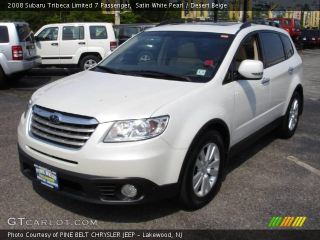 satin white pearl 2008 subaru tribeca limited 7. Black Bedroom Furniture Sets. Home Design Ideas