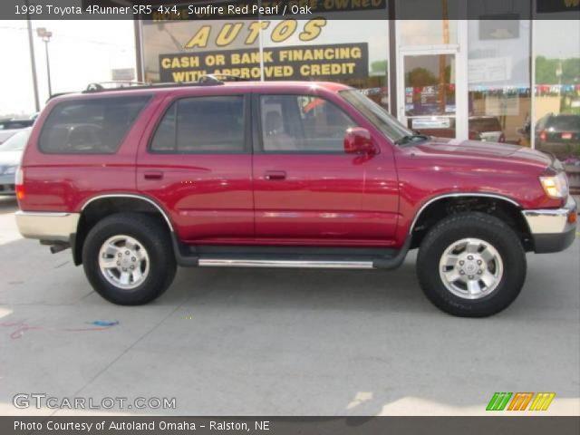 Sunfire Red Pearl 1998 Toyota 4runner Sr5 4x4 Oak Interior Vehicle Archive
