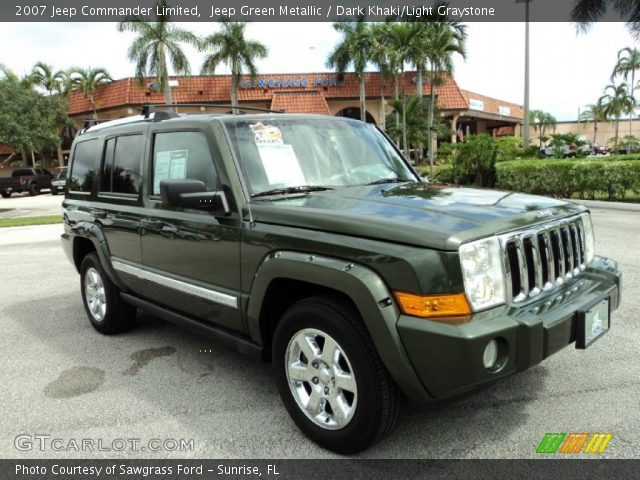 jeep green metallic 2007 jeep commander limited dark. Black Bedroom Furniture Sets. Home Design Ideas