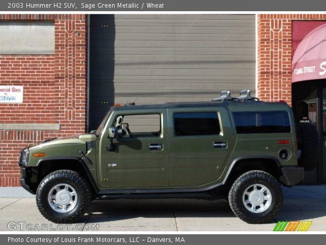 2003 Hummer H2 SUV in Sage Green Metallic