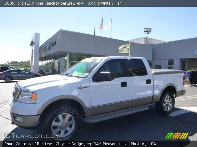 Oxford White 2005 Ford F150 King Ranch Supercrew 4x4 Tan Interior Vehicle