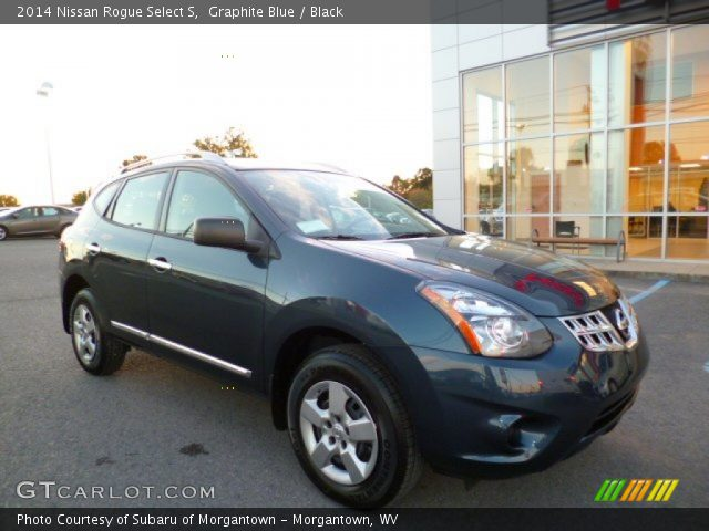 Graphite Blue 2014 Nissan Rogue Select S Black Interior