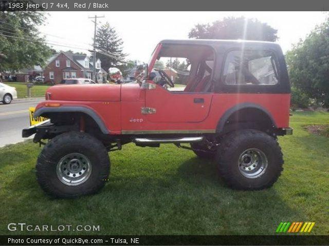 1983 Jeep CJ 7 4x4 in Red